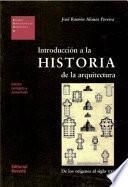 Libro de Introducción A La Historia De La Arquitectura