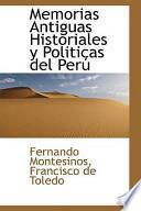 Libro de Memorias Antiguas Historiales Y Politicas Del Peru
