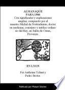 Libro de Almanaque Para 1566 De Nostradamus