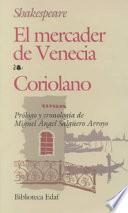 Libro de El Mercader De Venecia, Coriolano