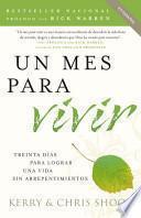 Libro de Un Mes Para Vivir