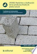 Libro de Replanteo Y Clasificación De Los Productos Finales En Piedra Natural. Iexd0108