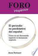 Libro de El Gerundio No Perifrástico Del Español