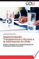 Libro de Implementando Transparencia Y Acceso A La Información En Chile