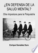 Libro de ¿en Defensa De La Salud Mental?