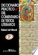 Libro de Diccionario Práctico Del Comentario De Textos Literarios