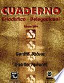 Libro de Benito Juárez Distrito Federal. Cuaderno Estadístico Delegacional 2001