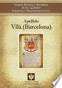 Libro de Apellido Vilá.(barcelona)