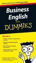 Libro de Business English Para Dummies