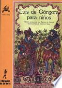 Libro de Luis De Góngora Para Niños