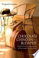 Libro de Chocolate Chino En Budapest