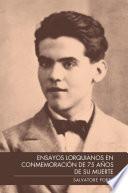 Libro de Ensayos Lorquianos En ConmemoraciÓn De 75 AÑos De Su Muerte