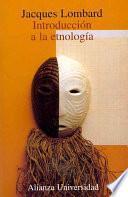 Libro de Introducción A La Etnología