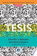 Libro de Derecho A Defender Derechos Humanos