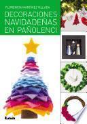 Libro de Decoración De Navidad Con Pañolenci