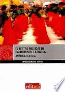 Libro de El Teatro Musical De Calderón De La Barca