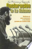 Libro de La Primera Y Segunda Declaración De La Habana
