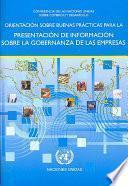 Libro de Orientación Sobre Buenas Prácticas Para La Presentación De Información Sobre La Gobernanza De Las Empresas
