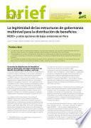 Libro de La Legitimidad De Las Estructuras De Gobernanza Multinivel Para La Distribución De Beneficios
