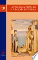 Libro de Antología Prima De La Poesía Española