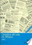 Libro de Cartelera Del Cine En México, 1903