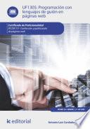 Libro de Programación Con Lenguajes De Guión En Páginas Web. Ifcd0110