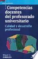 Libro de Competencias Docentes Del Profesorado Universitario
