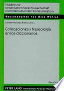 Libro de Colocaciones Y Fraseología En Los Diccionarios