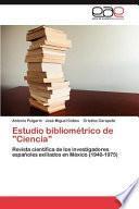 Libro de Estudio Bibliométrico De Ciencia