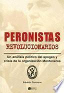 Libro de Peronistas Revolucionarios
