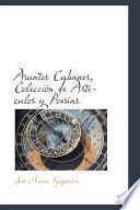 Libro de Asuntos Cubanos, Colecci=n De Artf。ulos Y Poesf,s