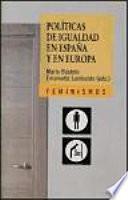 Libro de Políticas De Igualdad En España Y En Europa