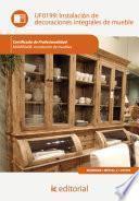 Libro de Instalación De Decoraciones Integrales De Mueble. Mamr0408