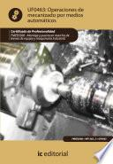 Libro de Operaciones De Mecanizado Por Medios Automáticos. Fmee0208