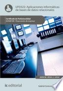 Libro de Aplicaciones Informáticas De Bases De Datos Relacionales. Adgn0108   Financiación De Empresas