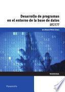 Libro de Uf2177   Desarrollo De Programas En El Entorno De La Base De Datos