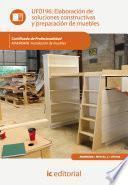 Libro de Elaboración De Soluciones Constructivas Y Preparación De Muebles. Mamr0408