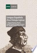 Libro de Lengua Española (para Filología Inglesa)