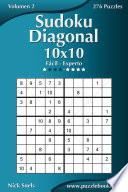 Libro de Sudoku Diagonal 10×10   De Fácil A Experto   Volumen 2   276 Puzzles