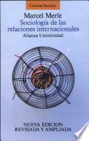 Libro de Sociología De Las Relaciones Internacionales