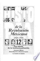 Libro de Los Inicios De La Institucionalización