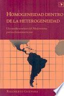 Libro de Homogeneidad Dentro De La Heterogeneidad