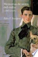 Libro de Memorias De Antes Del Exilio (1887 1919)