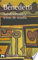 Libro de Subdesarrollo Y Letras De Osadía