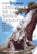 Libro de Lecciones De La Crisis Argentina