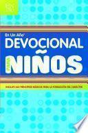Libro de Devocional En Un Ano Para Ninos = Devotional In A Year For Children