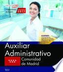 Libro de Auxiliar Administrativo. Comunidad De Madrid. Test