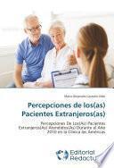 Libro de Percepciones De Los(as) Pacientes Extranjeros(as)