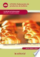 Libro de Elaboración De Productos De Bollería. Inaf0108