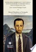 Libro de De Baladas, Madrigales Y Nocturnos: Manuel Bandeira Y Gerardo Diego, Poetas Musicales (1924)